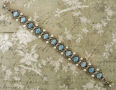 """SOPHIA SILKY BRACELET 15/0 seed beads Miyuki """"Dark Bronze"""" (457D) 11/0 seed beads Miyuki """"Dark Bronze"""" (457D) 8/0 seed beads Miyuki ..."""