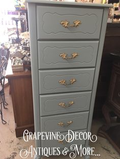 Vintage Duck Egg took this lingerie chest to a new era by The Hop To It Co. at Grapevine Decor Antiques and More... with Dixie Belle Paint