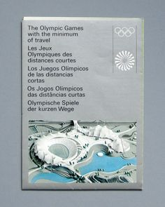 Munich 1972 Olympics Travel Map - Otl Aicher