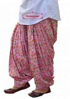 d70a9e5f99 Pink Printed Full Patiala Salwar Limited Edition 100% Pure Cotton PPS254. muteyaar  shopping