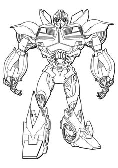 Bumblebee Transformers Coloring Page | Bee coloring pages ...