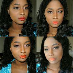 The Orange Lip Edit - Treceefabulous Swatches on Brown/ Dark skin