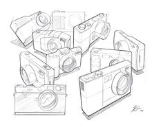 Assorted Sketches on Behance Camera Sketches, Cool Sketches, Drawing Sketches, Drawing Ideas, Drafting Drawing, Copic Drawings, Sketching Techniques, Object Drawing, Industrial Design Sketch