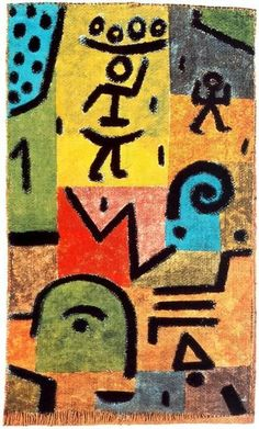 'Lemon Harvest' by Paul Klee (1879-1940, Switzerland) Expressionism, cubism, surrealism & orientalism influenced Klee who tried and eventually mastered color theory, and wrote extensively about it (Paul Klee Notebooks). It was compared with Leonardo da Vinci's A Treatise on Painting.