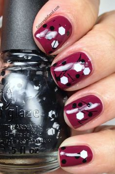 China Glaze Whirled Away and base color Purr-Fect Plum