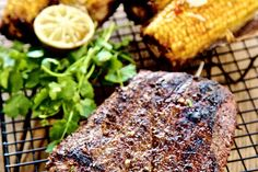 Mexican Flank with Street Corn (Elotes) - Make delicious beef recipes easy, for any occasion Street Corn, Food Styling, Beef Recipes, Paleo, Easy Meals, Mexican, Roasted Corn, Meat Recipes, Beach Wrap