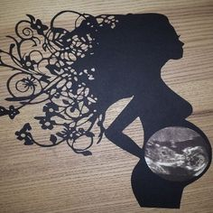 Baby Pregnancy Ultrasound Papercut Frame your scan picture in a beautiful papercut