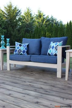 DIY Outdoor Loveseat Plans Also Chairs, End Tables, Coffee Table,planter    Rogue