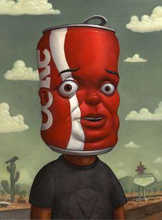 Coke Head - Bob Dob Paintings