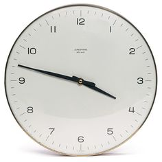 wall clock // max bill junghans Modern Wall, Contemporary Clocks, Wall Clock Design, Kitchen Clocks, Home Accents, Furniture Design, Home Goods, House Design, Home Accessories
