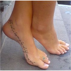 """Thy word is a lamp unto my feet and a light unto my path"" tattoo. :)"