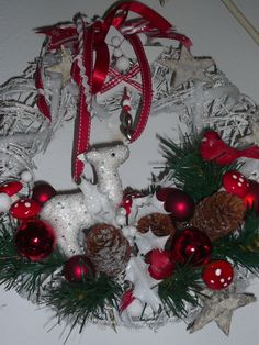wood wreath in forest theme decor