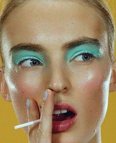 "eps-ilon: """"Gloss Lollipops"" Elle France 9th May 2014 Model: Ymre Stiekema Photographer: Emilio Tini Stylist: Chloe Dugast """