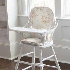 Shabby chic high chair pad