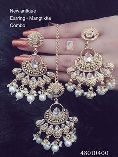 Fulfill a Wedding Tradition with Estate Bridal Jewelry Indian Jewelry Earrings, Fancy Jewellery, Indian Wedding Jewelry, Jewelry Design Earrings, Stylish Jewelry, Luxury Jewelry, Fashion Earrings, Bridal Jewelry, Jewelery