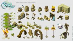 Colors and Universes. Concept Art World, Game Concept Art, Prop Design, Game Design, Wakfu Game, Wakfu Mmorpg, Vector Game, 2d Game Art, Isometric Art