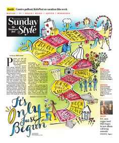 Washington Post Sunday Style by Karen Kurycki, via Behance
