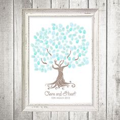 whimsical wedding tree fingerprint guestbook  by idoityourself, $20.00  in sydney