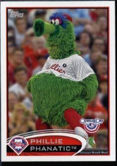2012 Topps Opening Day Mascots #M-14 Phillie Phanatic - Philadelphia Phillies (Baseball Cards) by Topps Opening Day Mascots. $3.13. 2012 Topps Opening Day Mascots #M-14 Phillie Phanatic - Philadelphia Phillies (Baseball Cards)