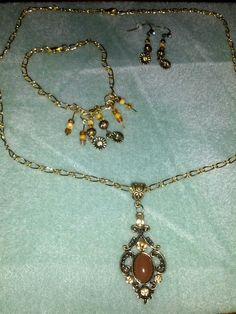 Necklace, earrings, bracelet set