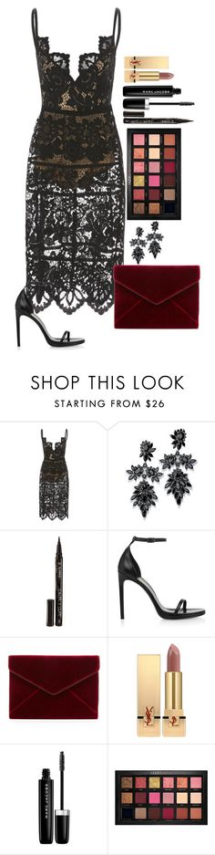 """Untitled #1650"" by fabianarveloc on Polyvore featuring Fallon, Smith & Cult, Yves Saint Laurent, Rebecca Minkoff, Marc Jacobs and Huda Beauty"