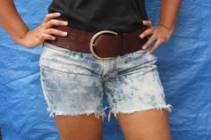 wikiHow to Make Dirty Denim Distressed Cut Off Shorts -- via wikiHow.com