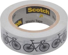 Scotch® Expressions Washi Tape, Bikes, 3/5 x 393
