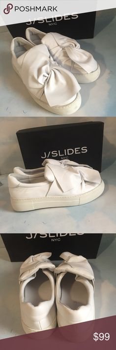J/SLIDERS white leather flats sz-8 New with box J/Sliders white leather flats sz-8.No tag J/Sliders Shoes Flats & Loafers