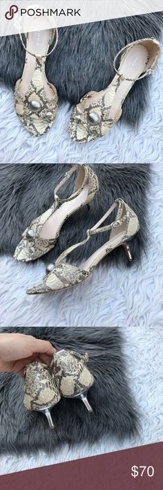 Coach python kitten heels Good condition • Open to offers via button Coach Shoes
