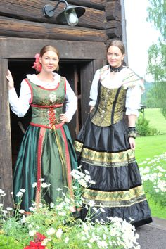 Huldas daughters  Lise Skjåk-Bræk Folk Costume, Costumes, Going Out Of Business, Festival Dress, Norway, Ethnic, Art Photography, Daughter, Draw