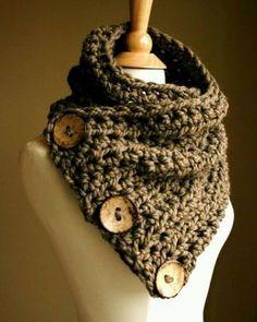 Crochet-handmade-women-Brown-scarf