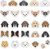 Ilustrações de cachorro rosto