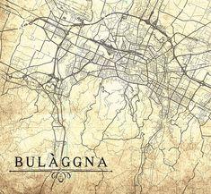 BOLOGNA Canvas Print Italy Vintage map Bologna City Italy