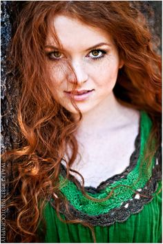 Long Red Hair Beautiful Freckled Irish Redhead