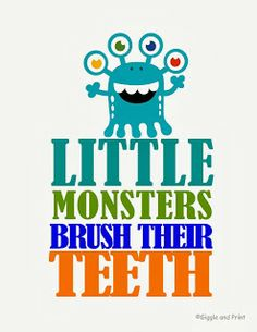Little Monsters Brush Their Teeth 3 FREE Printables!