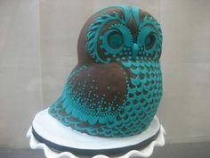 My Owl Barn: Collection: Cakes. Several gorgeous owl cake pictures. Pretty Cakes, Cute Cakes, Beautiful Cakes, Amazing Cakes, Beautiful Owl, Sweet Cakes, Owl Cakes, Cupcake Cakes, Ladybug Cakes