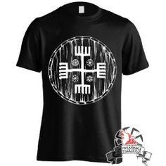 Koszulka Ręce Boga Tarcza - Czarna