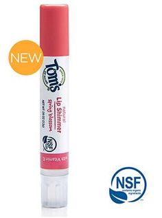 NEW Tom's of Maine Organic Lip Balms, Lip Glosses and Lip Shimmers