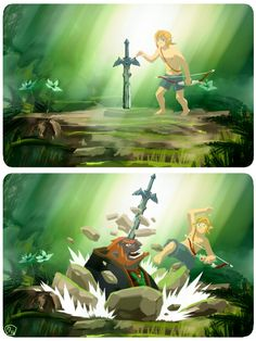 """And this is why I don't think BotW is a sequel to Wind Waker. """"Calamity Ganon"""" would have to come AFTER the whole end of Hyrule thing. The Legend Of Zelda, Legend Of Zelda Memes, Legend Of Zelda Breath, Link Zelda, Majora Mask, Image Zelda, Master Sword, Wind Waker, Twilight Princess"""