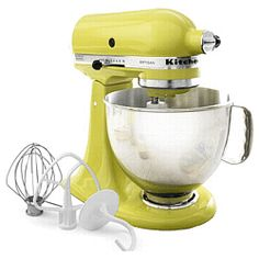 One day I'll have a Kitchen Aid Mixer. I'll bake for a week straight. I'll bake all the recipes I always wanted to try that require this mixer. I will be happy and it will be great :)
