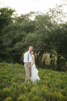 Country Chic Wedding Couple