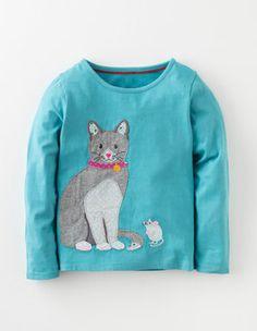 Arctic Cat Patchwork Appliqué T-shirt Boden