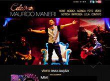 Layout de Site Criado para o Cantos Mauricio Manieri #criative #site #criacaodesites #musica #agencia #comunicacaovisual www.visiondesign.com.br