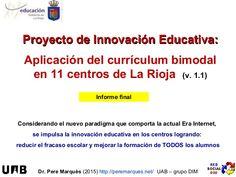 El curriculum bimodal en La Rioja