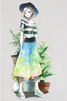 24 Ideas Hair Short Girl Anime Illustrations For 2019 Manga Kawaii, Kawaii Anime Girl, Anime Art Girl, Manga Girl, Anime Girls, Anime Chibi, Manga Anime, Style Anime, Art Anime Fille