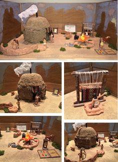 Native American 4th grade project. Navajo Hogan.