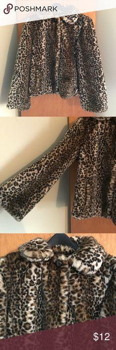 Leopard faux fur coat Leopard fur faux coat.  Fully lined.  Snap front closure. generation nxt wear Jackets & Coats