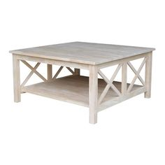 Found It At Joss Main Giada Coffee Table Unfinished Rustic Square