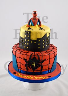 Cake for boys Spiderman - Gateau D'anniversaire Pour Enfants Garcon Spiderman - Verjaardagstaart
