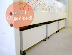 """That's My Letter: """"S"""" is for Storage - under bed rolling storage bins Laundry Room Storage, Storage Bins, Bedroom Storage, Diy Storage, Storage Solutions, Storage Ideas, Clothes Storage, Shoe Storage, Storage Drawers"""